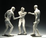 Untitled (3 Standing Men), Stoneware, Raku